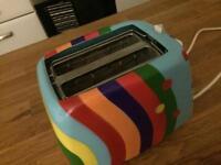 Pylones Colourful Multicoloured Toaster 2 Slice great condition