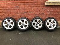 Volkswagen Golf GTI BBS Alloy Wheels & Tyres 5x112 Caddy Van Seat 17 inch