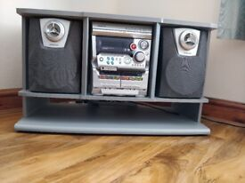 Entertainment Stand + Stereo System