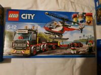 Lego truck and helicopter