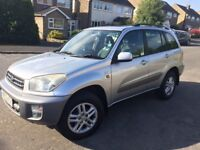 TOYOTA RAV4. 2 careful owners. FSH. Low mileage. Air con. Alloys.