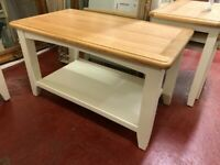 NEXT DAY DELIVERY New oak and ivory Small coffee table £149