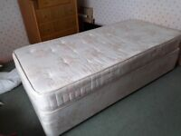 lovely condition divan bed with well sprung mattress