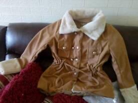 Fleece lambs wool lining lovely jacket