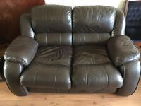 2 piece leather sofa