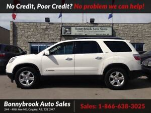 2008 GMC Acadia SLT1 leather seats awd 7 passenger w/bluetooth
