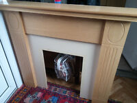 solid pine fire surround bargain £20