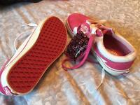 Pink Vans - women US6 , UK 4
