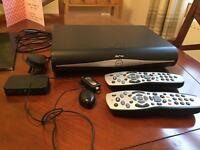 Sky hd box, tv link and remotes