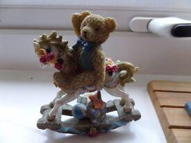 teddy on rocking horse