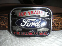 VINTAGE LIMTED EDITION HENRY FORD - FORD TRUCKS - MANS MENS REAL LEATHER BELT - ONLY 10,000 MADE.