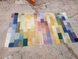 Brick work woollen rug