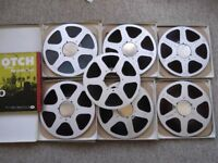 7 Scotch 150 reel-to-reel tapes - 10.5 inch aluminium spools with 3600ft of 1/4 inch tape