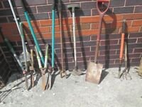 Assorted garden tools for sale £15