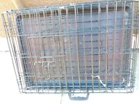 LARGE DOG CAGE, WITH TRAY, EXCELLENT CONDITION, BARGAIN £35, CAN DELIVER