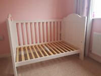 Boori Childrens Bedroom Furniture Set. Cot bed, wardrobe & chest of drawers/changing station