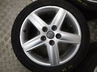 "Genuine Audi A4 B6 17"" 5x 5 Spoke Sport Alloy Wheels with Tyres 235/45 R17"