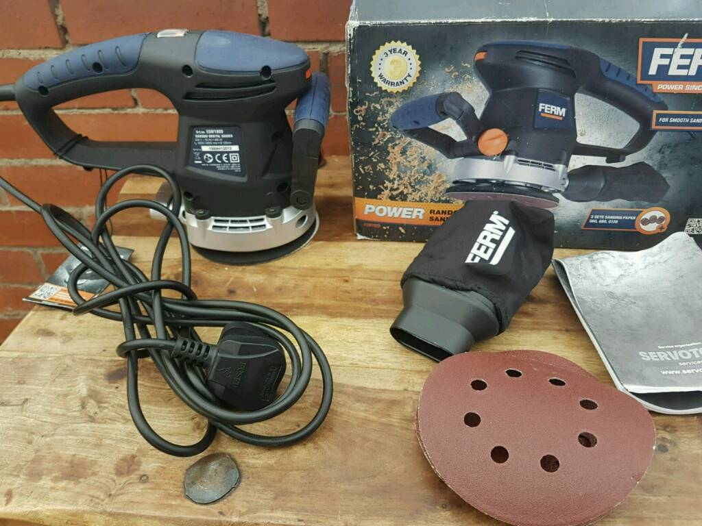 Ferm , ESM1009 , 480w orbital sander,used once with extra sheets