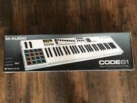 M-Audio Code 61 midi keyboard *RARE WHITE edition*