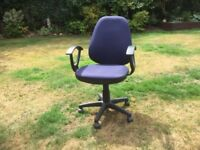 Office Chair in Blue fabric.