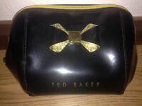 Ted baker black & gold makeup bag