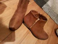 Tan ladies ankle boots