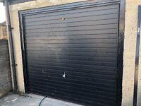 Garage door - Garador Good cond W 2.30M H 2 m 7 cm including frame. Black painted. Horizon model