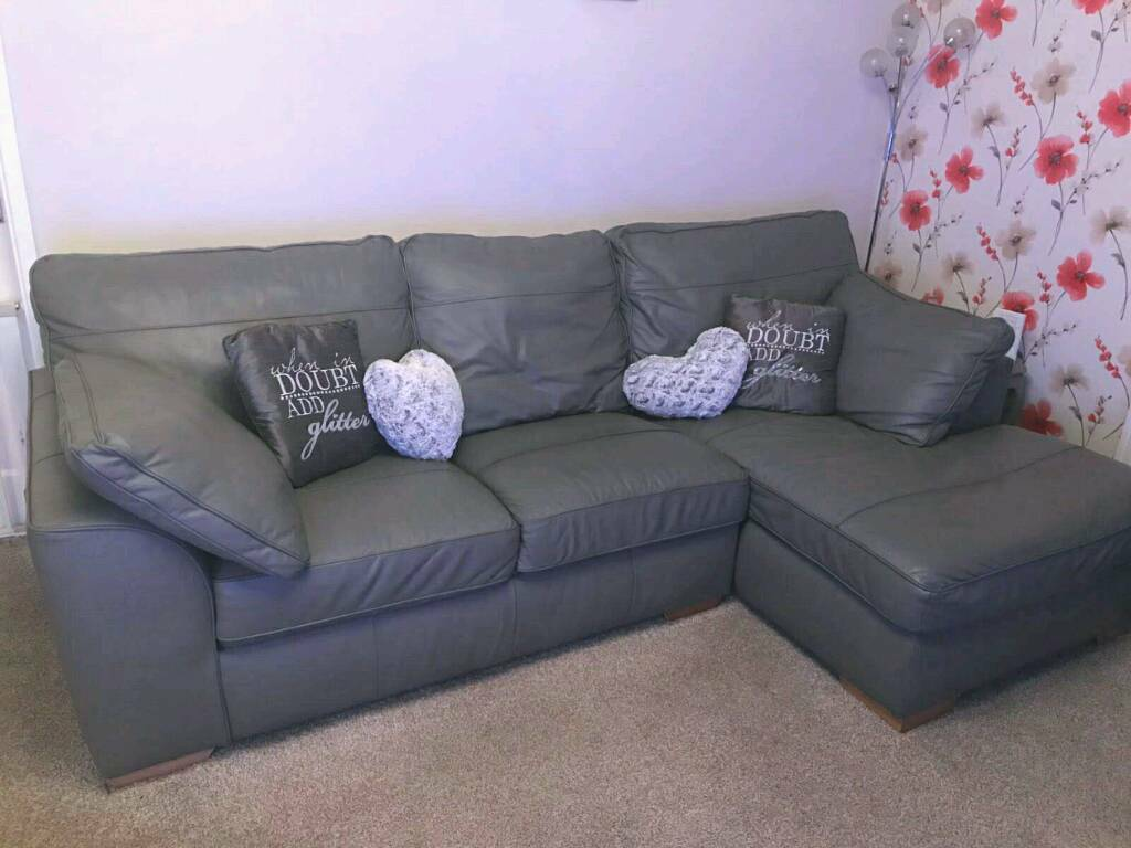 Cool Stamford Grey Leather Sofa Bralicious Painted Fabric Chair Ideas Braliciousco