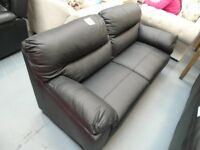Brand New 3+2 Seater Black Leather Sofa Bed. 3 Seater Is The Bed. Only 1 Available. Can Deliver