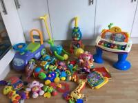 MASSIVE TOY BUNDLE fisher-price baby toddler toys walkers