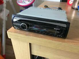 Sony in car CD player with usb and aux Sony xplode