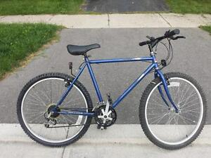 "Mountain Bike for Sale 18 spd 21-""Frm.26X195-""TIRES BLUE BIKE"