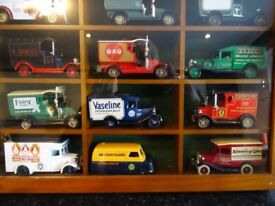 Lledo/Days Gone collection of 15 model vans C/W display box and original packaging