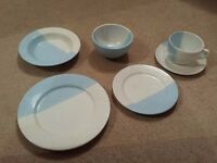 NEW - House of Fraser blue and white crockery - single set ideal for university - £10