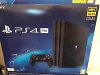 Sony PS4 PRO 1TB+ 2 games with receipt and warranty