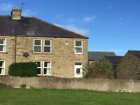 3 Bed Semi Detached stone built cottage approx 2 miles outside Lanchester. Available 1 May 2018.