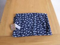 New JOULES Navy/White Dog Scarf