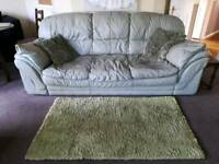 light green leather sofa