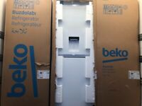 NEW BOXED BEKO 60CM FROST FREE FRIDGE FREEZER WITH WATER DISPENSER IN WHITE
