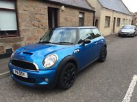 Blue Mini Cooper S 2009 ONLY 33K Miles