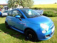 Fiat 500 C S (blue) 2014