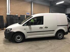 VW Caddy van white