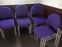clean visitor/reception chairs