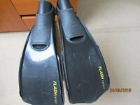 TWO pairs of Ocean Reef Swimming flippers. Size 38-40 and 40 - 42