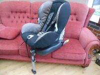 Maxi-Cosi Priorifix brown reflection class A isofix system car seat 9-18 KG in excellent condition