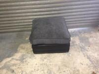 Black and grey footstool new