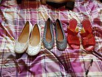 Various ladies shoes