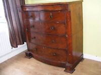 CAN DELIVER - 19th CENTURY BEAUTIFUL VICTORIAN ANTIQUE CHEST OF DRAWERS