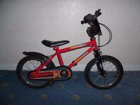 "Urban Racers 16"" Kids' Bike with Stabilisers"