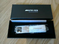 Mercedes AMG carbon effect leather key ring
